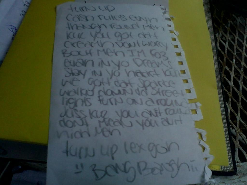 Jamia wrote it for me