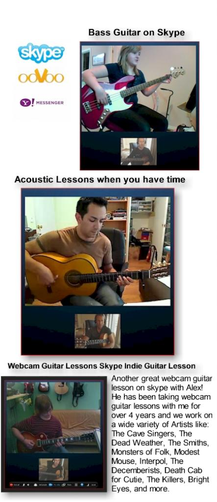 skype bass guitar ukulele lesson