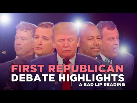 """FIRST REPUBLICAN DEBATE HIGHLIGHTS: 2015"" - A Bad Lip Reading of The Republican Debate"