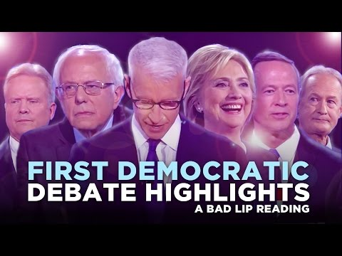 """FIRST DEMOCRATIC DEBATE HIGHLIGHTS: 2015"" -- A Bad Lip Reading of the First Democratic Debate"